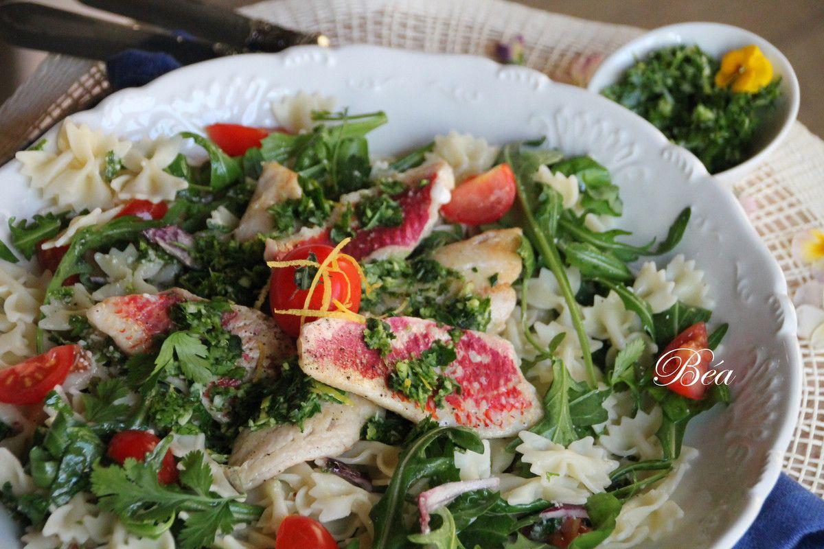 Salade italienne aux filets de rouget - balade italienne