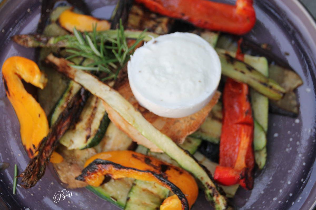 Méli mélo de légumes grillés à la plancha pour une tartufina