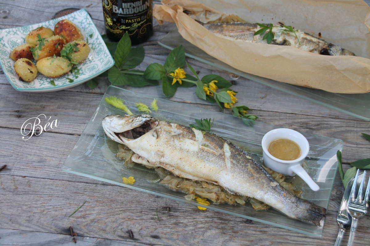 Bar en papillote au fenouil anisé (recette légère) - Balade bretonne, la presqu'île de Crozon
