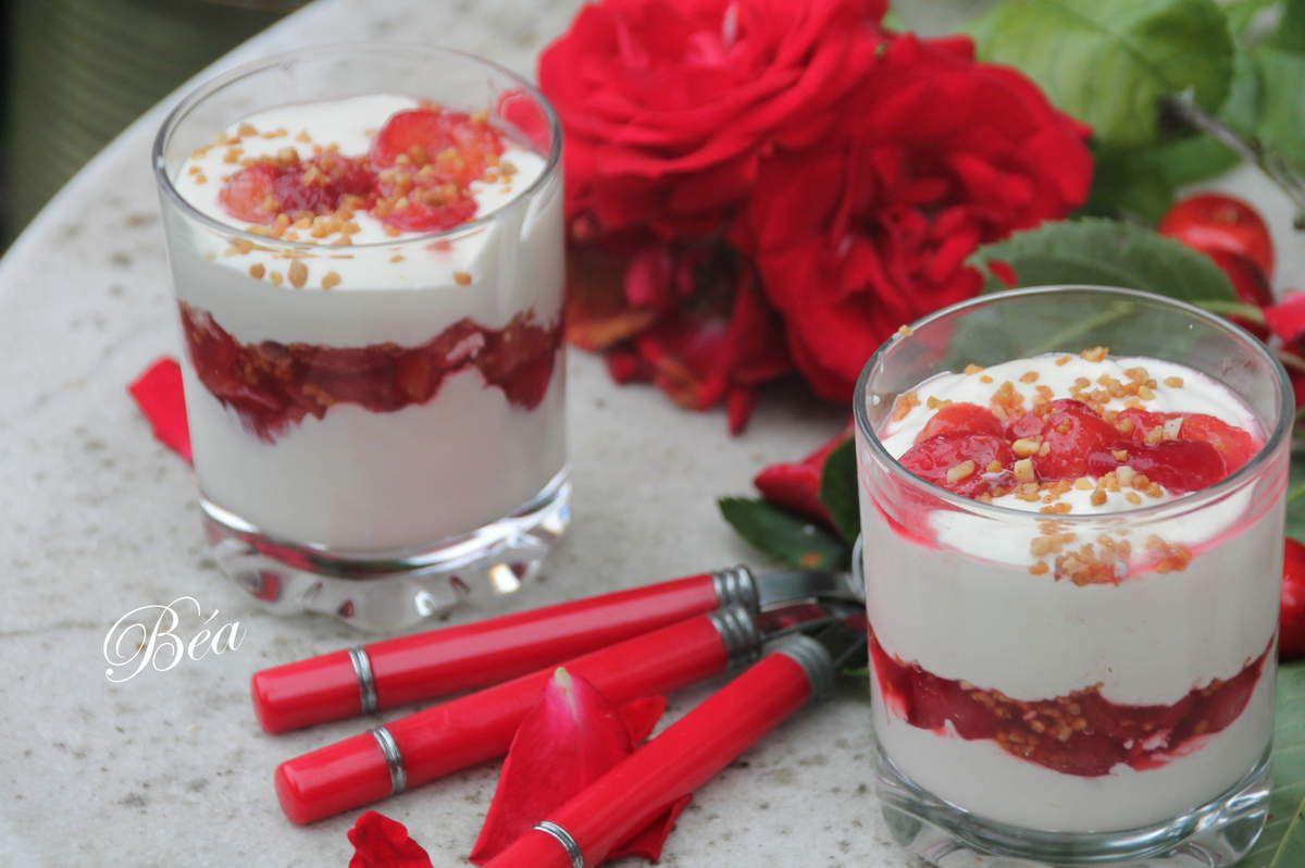 Camy crème mascarpone et cerises à  la rose