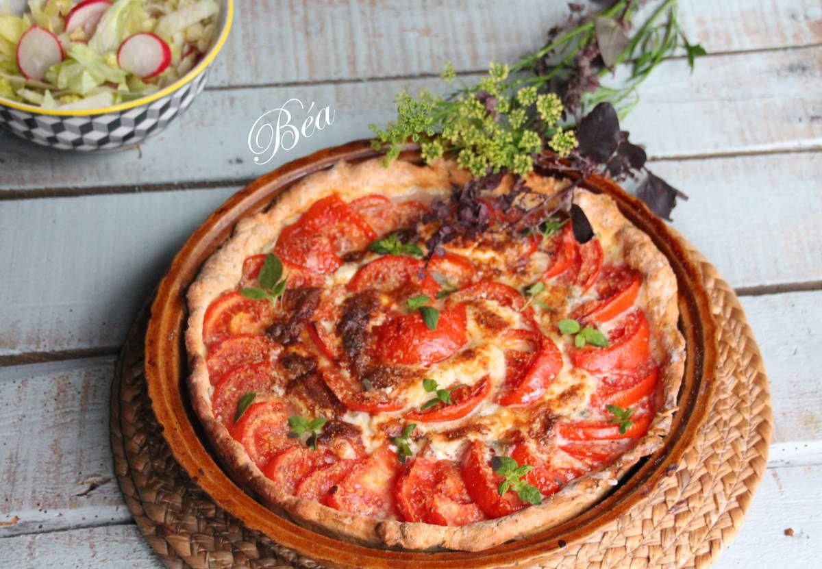 Tarte aux tomates et au mascarpone et gorgonzola