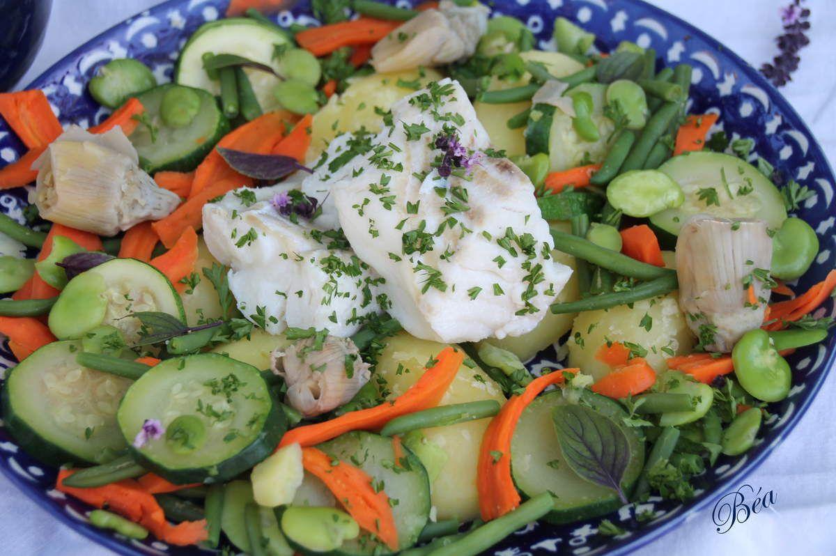 Cabillaud, légumes vapeur et sauce rouille comme à Marseille