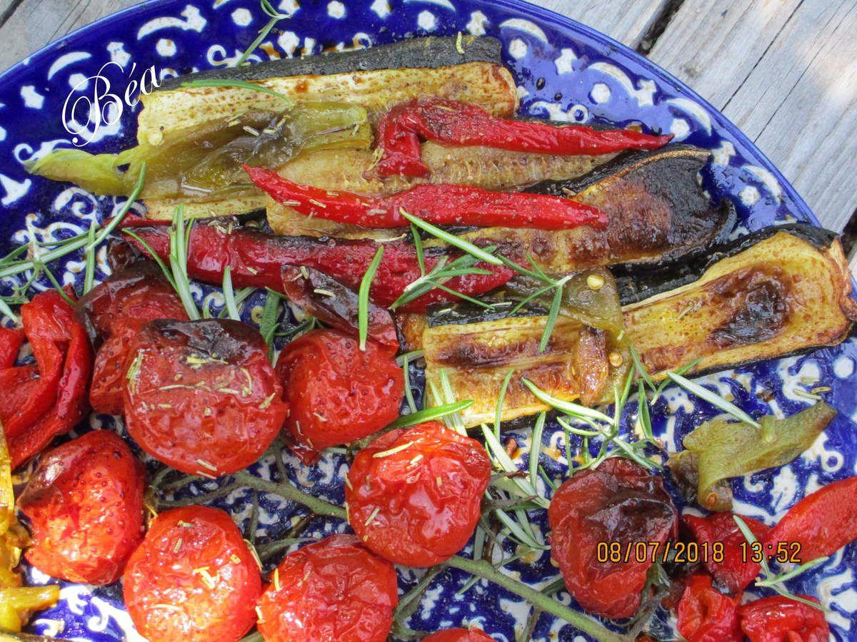 Salade de légumes rôtis au romarin - Paysages du nord