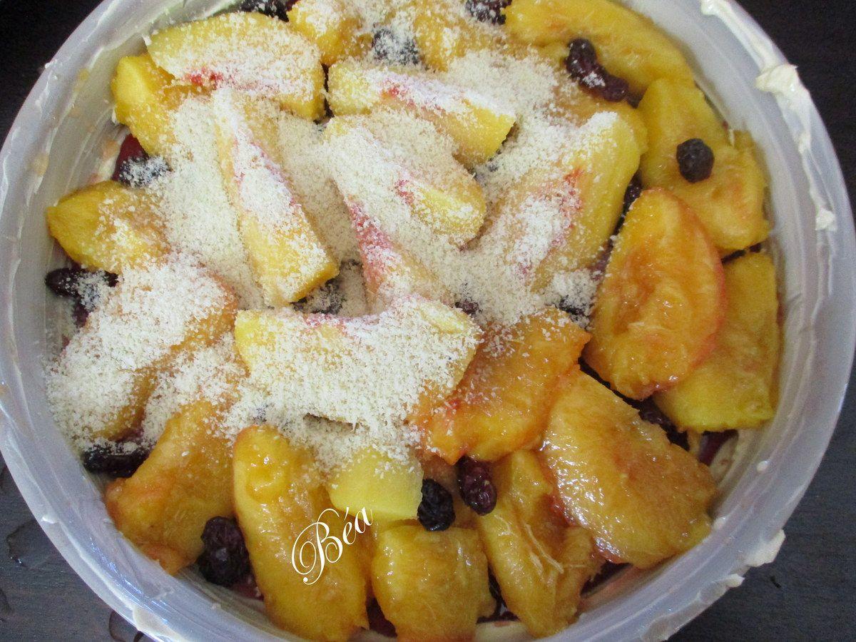 Tarte tatin aux nectarines et cranberries