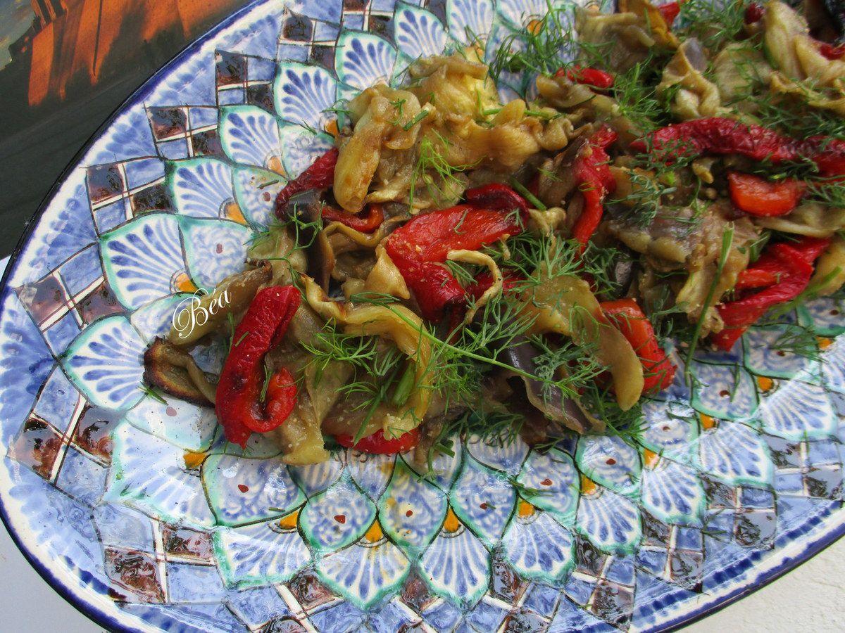 Salade d'aubergines à l'aneth (recette ouzbek) - Ouzbékistan : Khiva