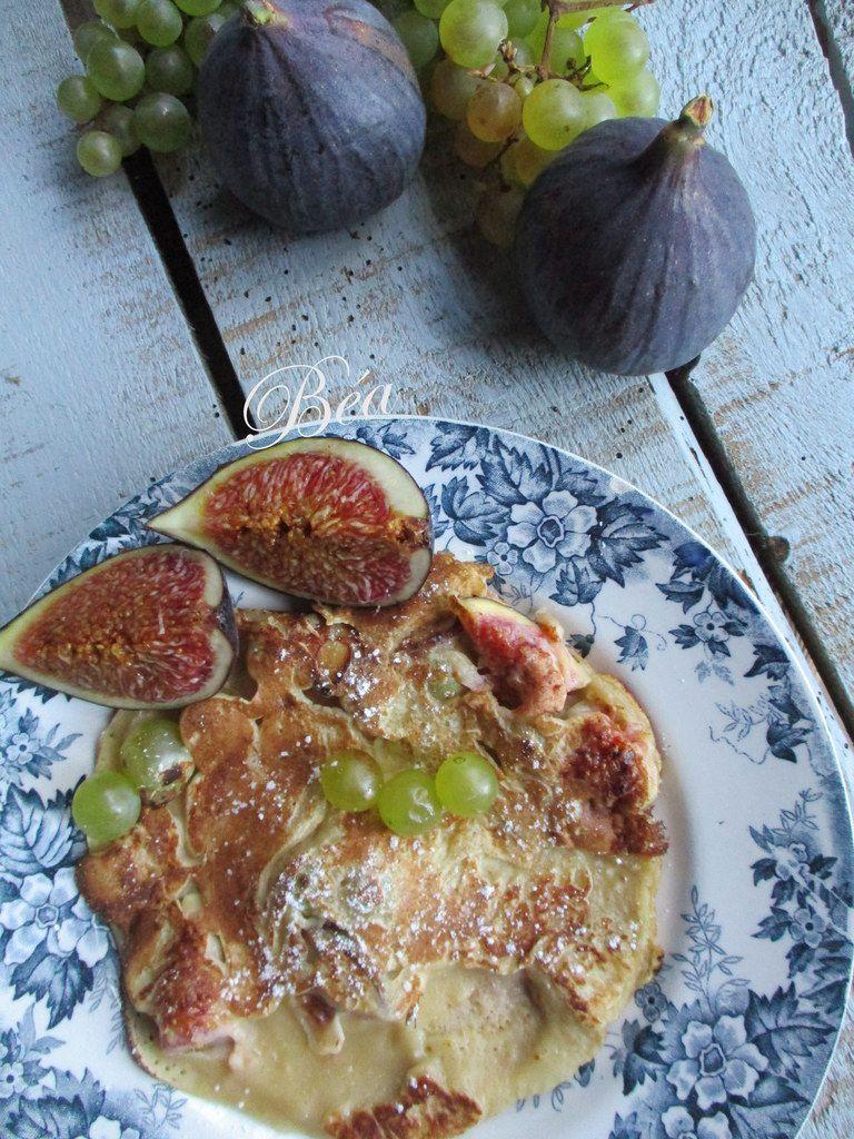 Crêpes rustiques à l'épeautre, au kefir et aux fruits d'automne