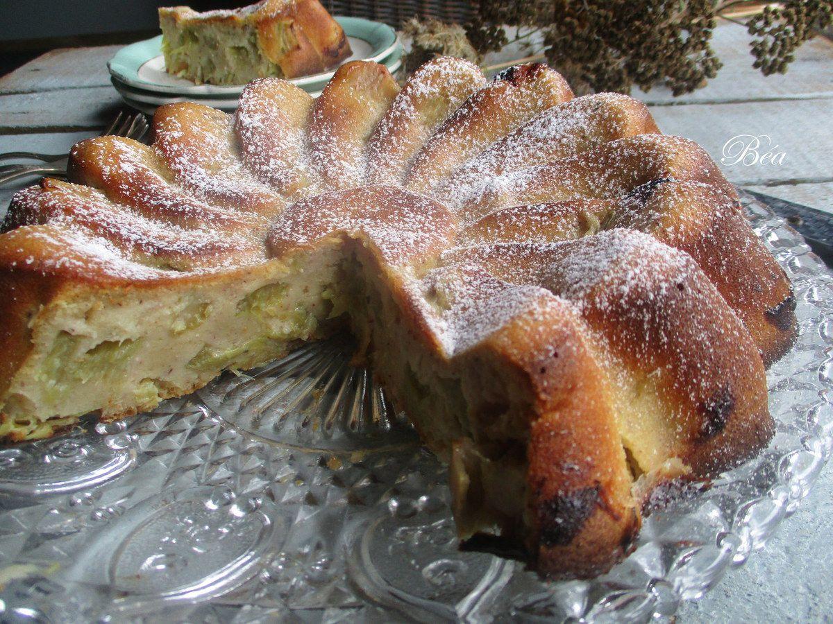 Gâteau- flan à la rhubarbe