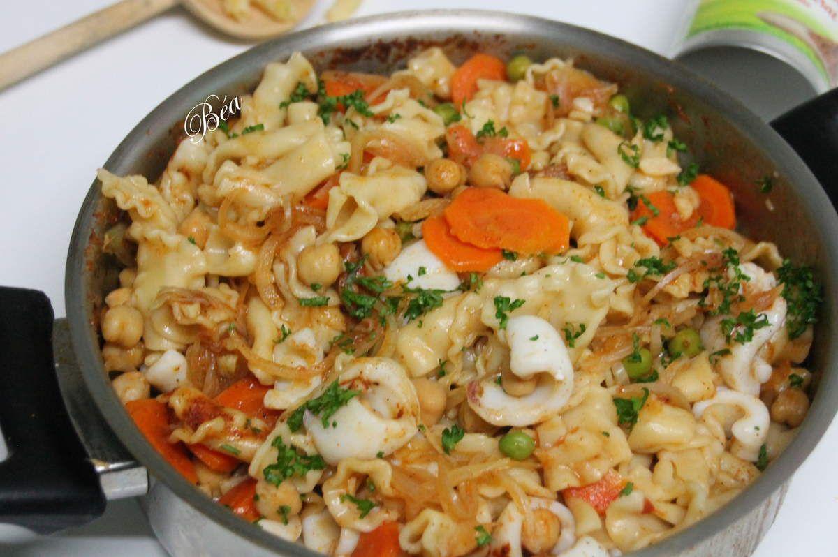 One pot pasta aux calamars à l'orientale