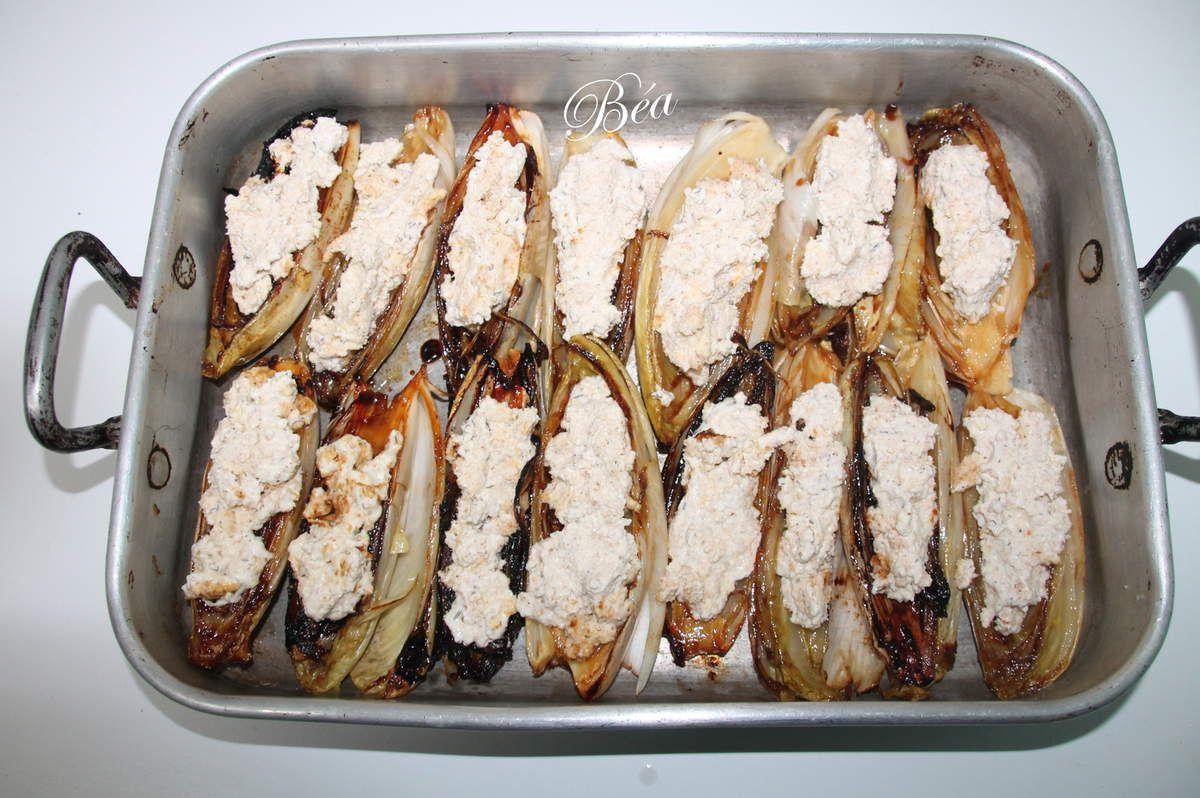 Endives caramélisées au jambon serrano de Yotam Ottolenghi