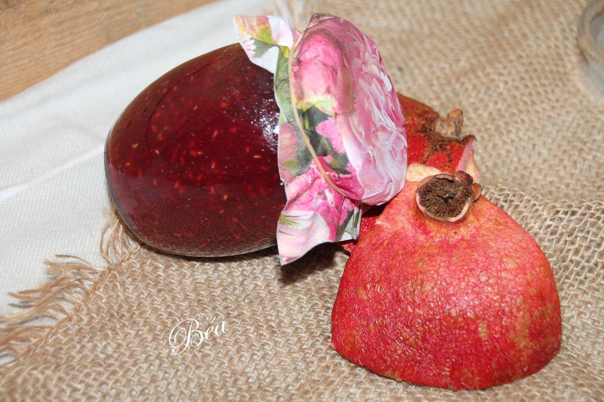 Confiture pomme, grenade et framboise