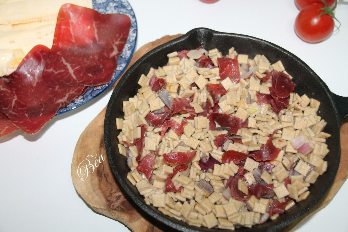 Tartiflette de crozets à la viande des grisons