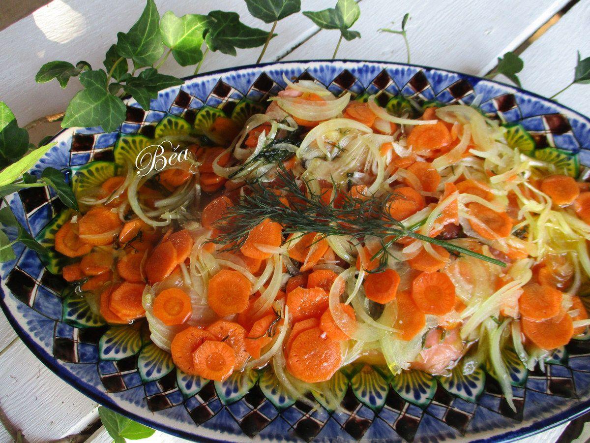 Saumon gravlax mariné à l'huile d'olive