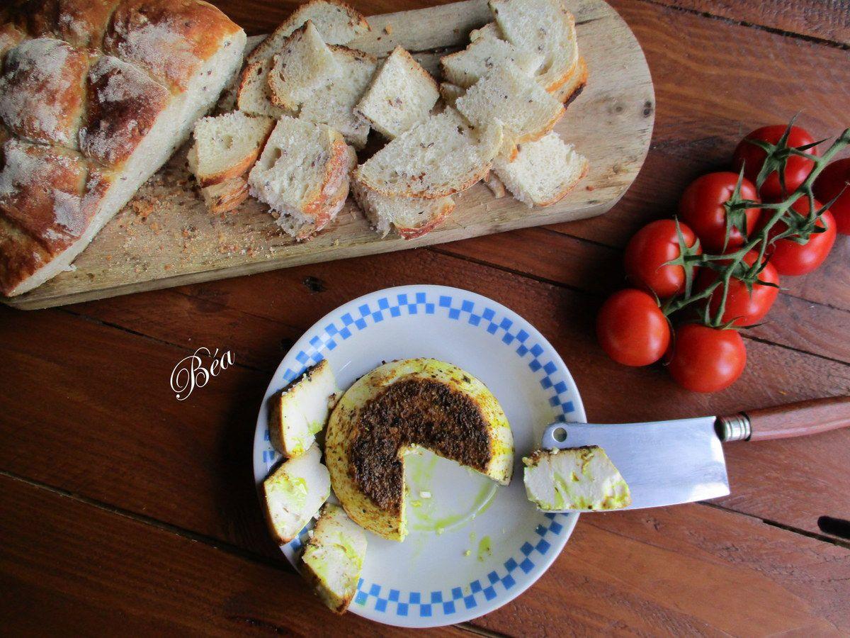 Ricotta rôtie aux épices italiennes