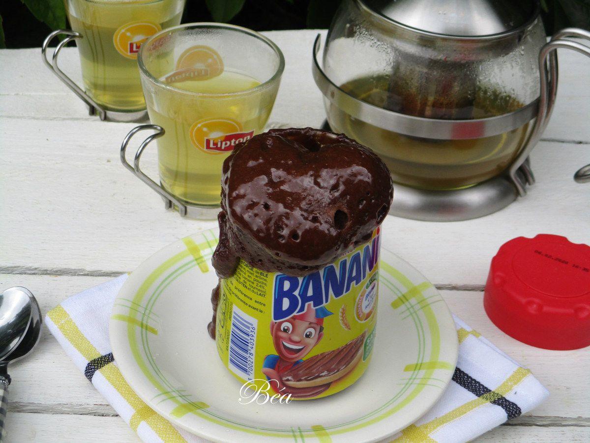 Cake en pot de Banania à tartiner