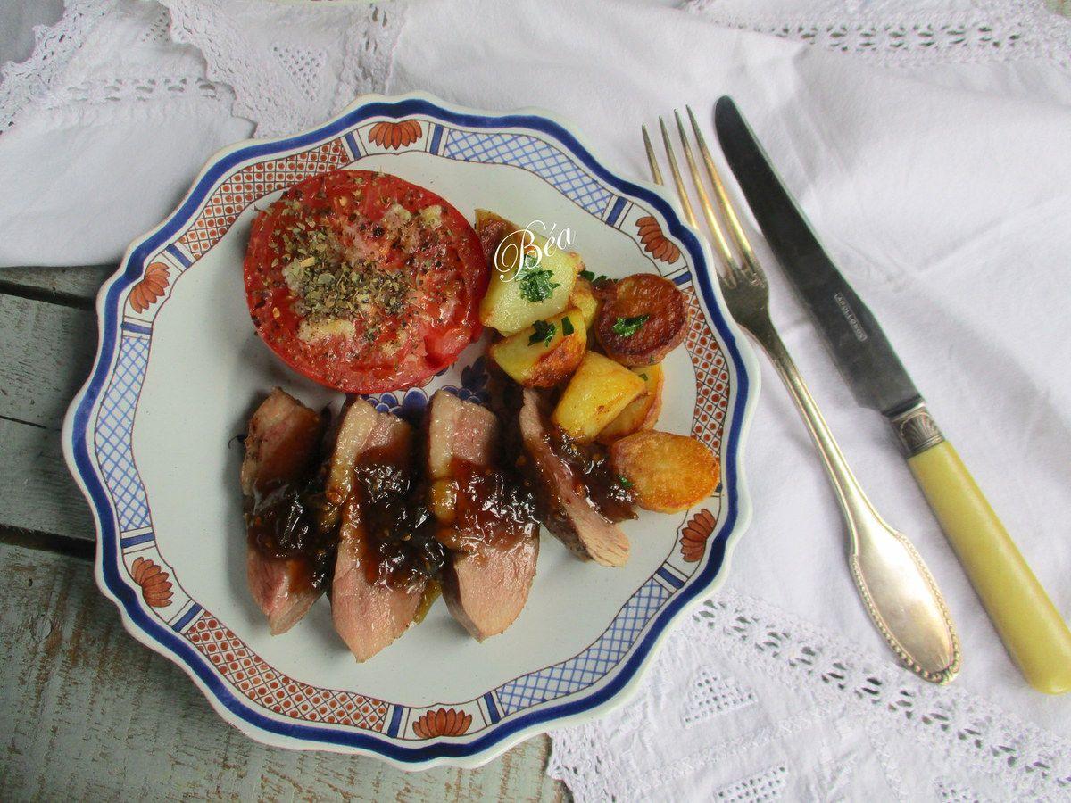 Magret de canard à la confiture de tomates vertes
