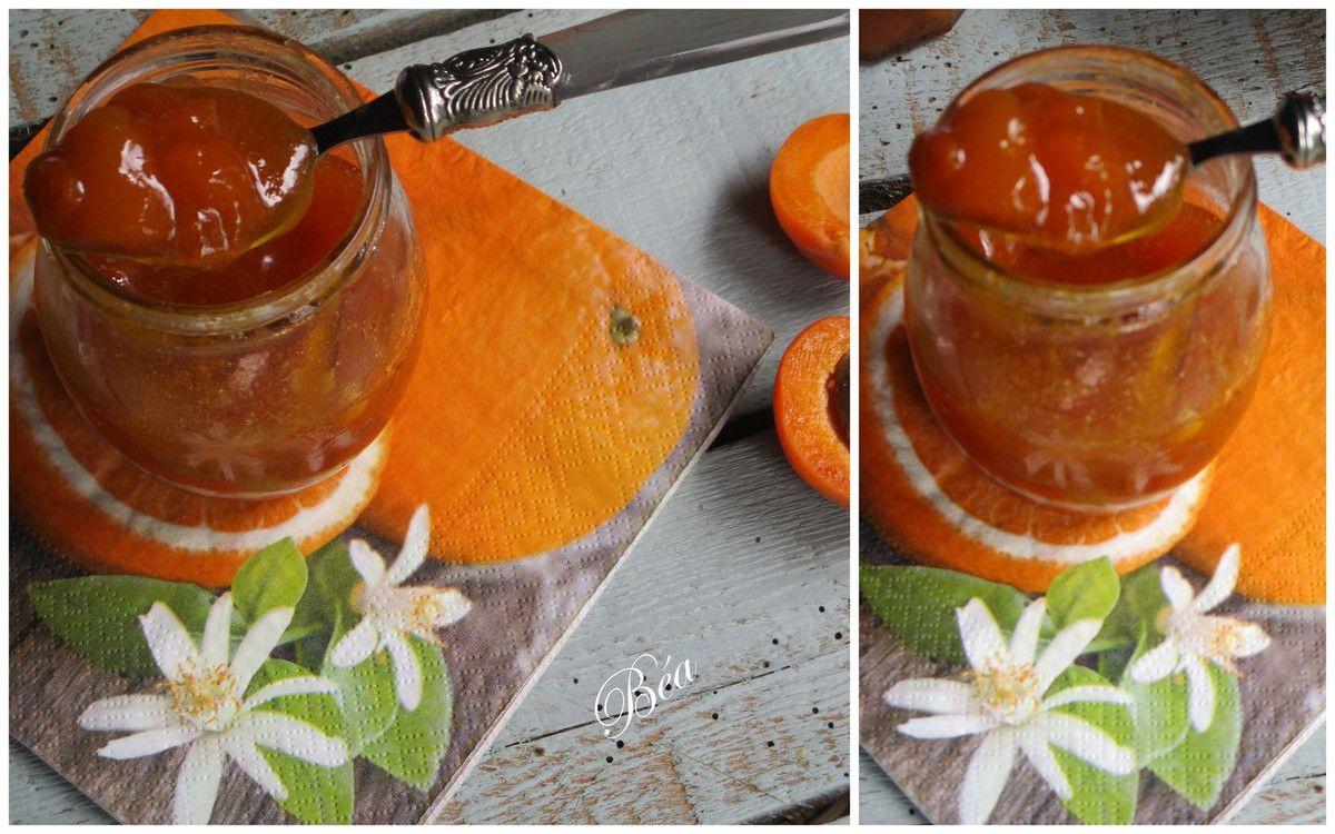 Confiture d'abricots à la cassonade et  à la fleur d'oranger