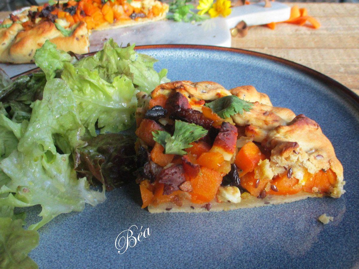 Tarte rustique aux carottes à l'orientale