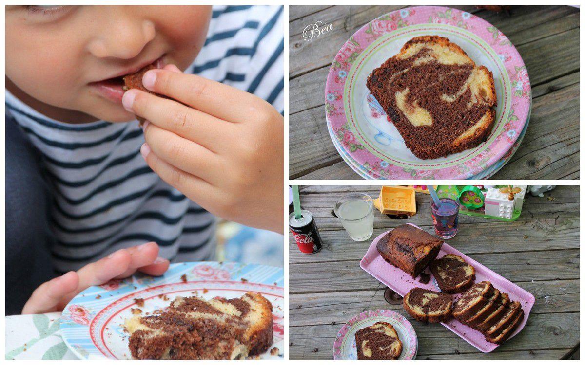 Le gateau marbré au chocolat de Jules et Zoé