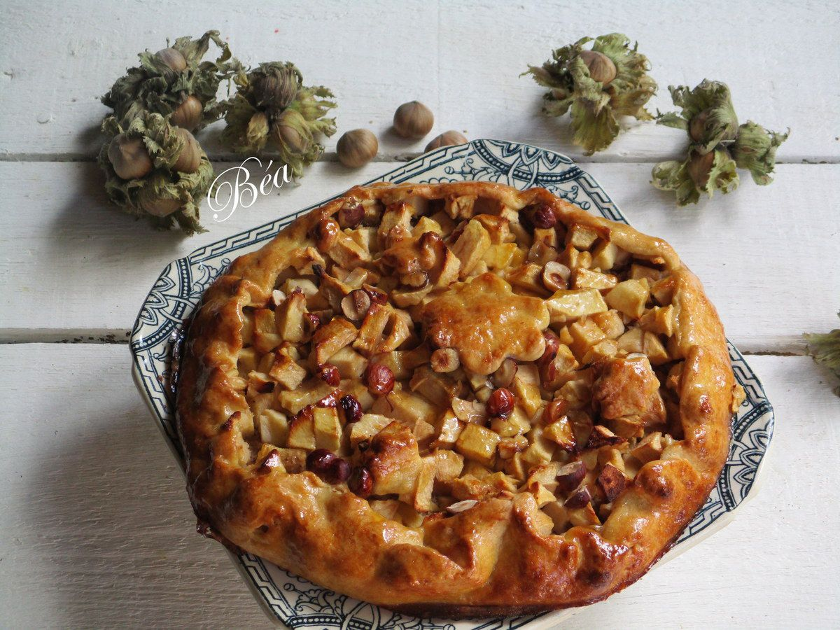 Tarte rustique aux pommes et noisettes