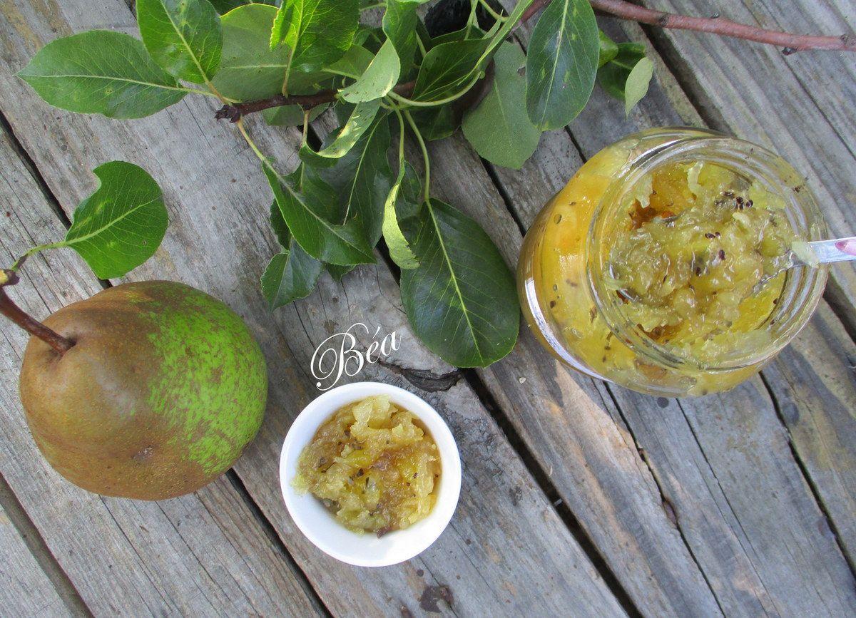 Confiture poires, kiwis et citron vert