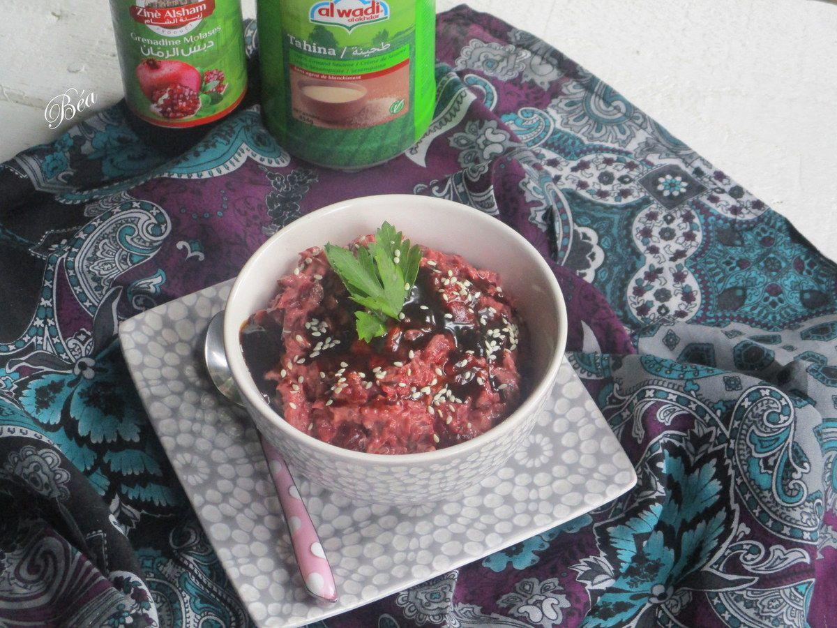 Salade de betteraves rouges à la syrienne