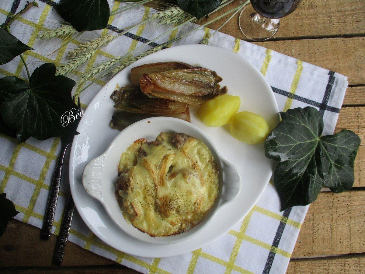 Filet mignon gratiné au Maroilles