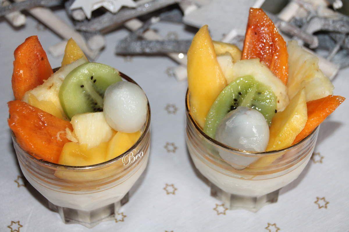 Panna cotta aux fruits exotiques