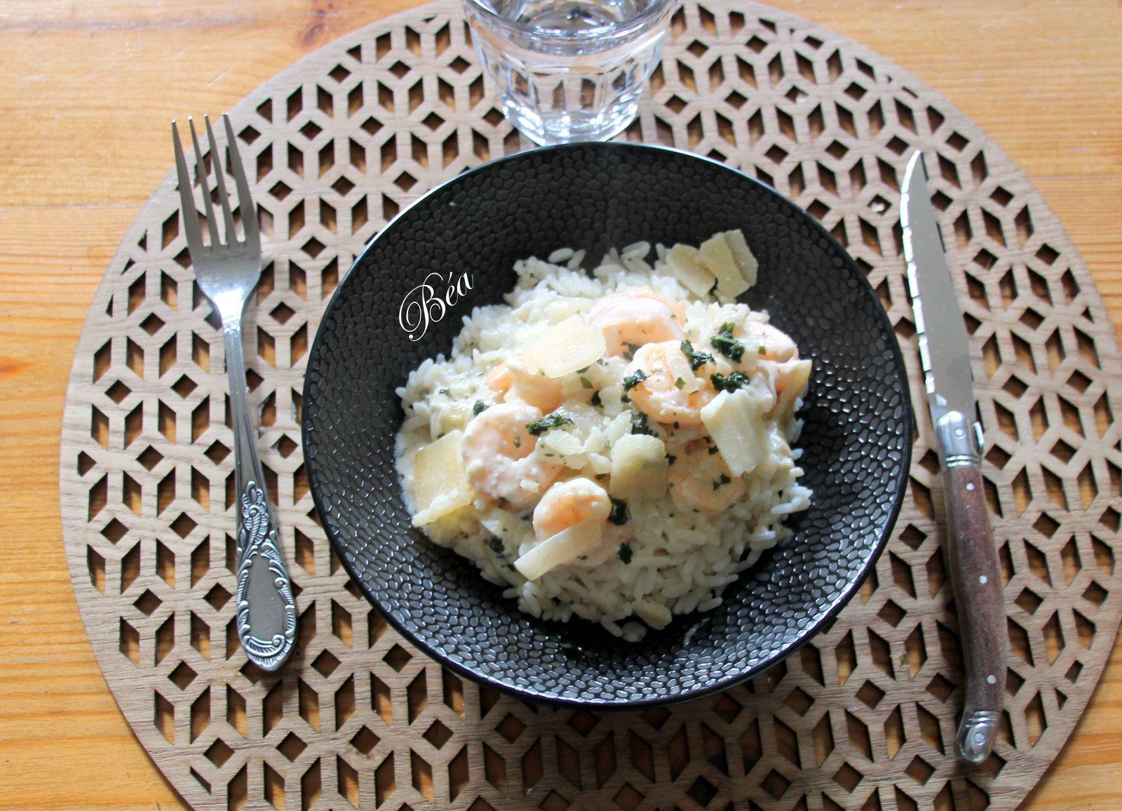 Crevettes à l'ail et au parmesan