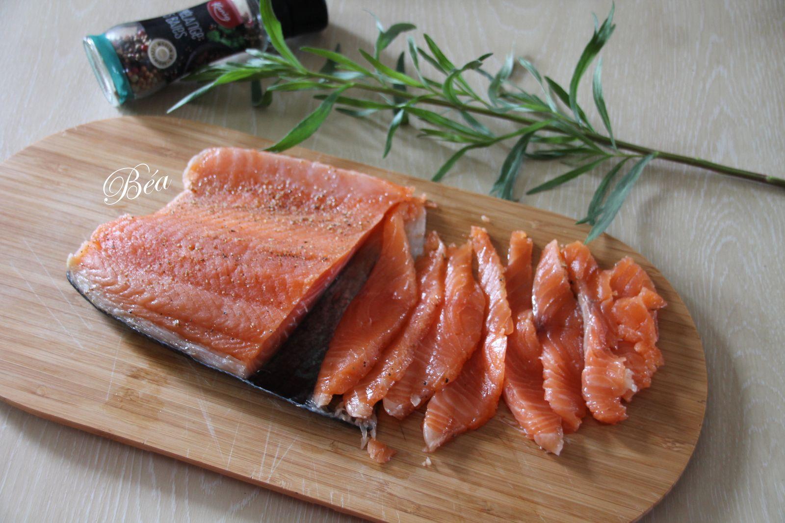 Saumon gravlax aux 5 baies pour une assiette gourmande