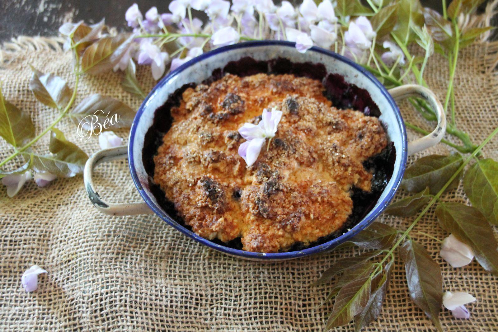 Cobbler aux myrtilles