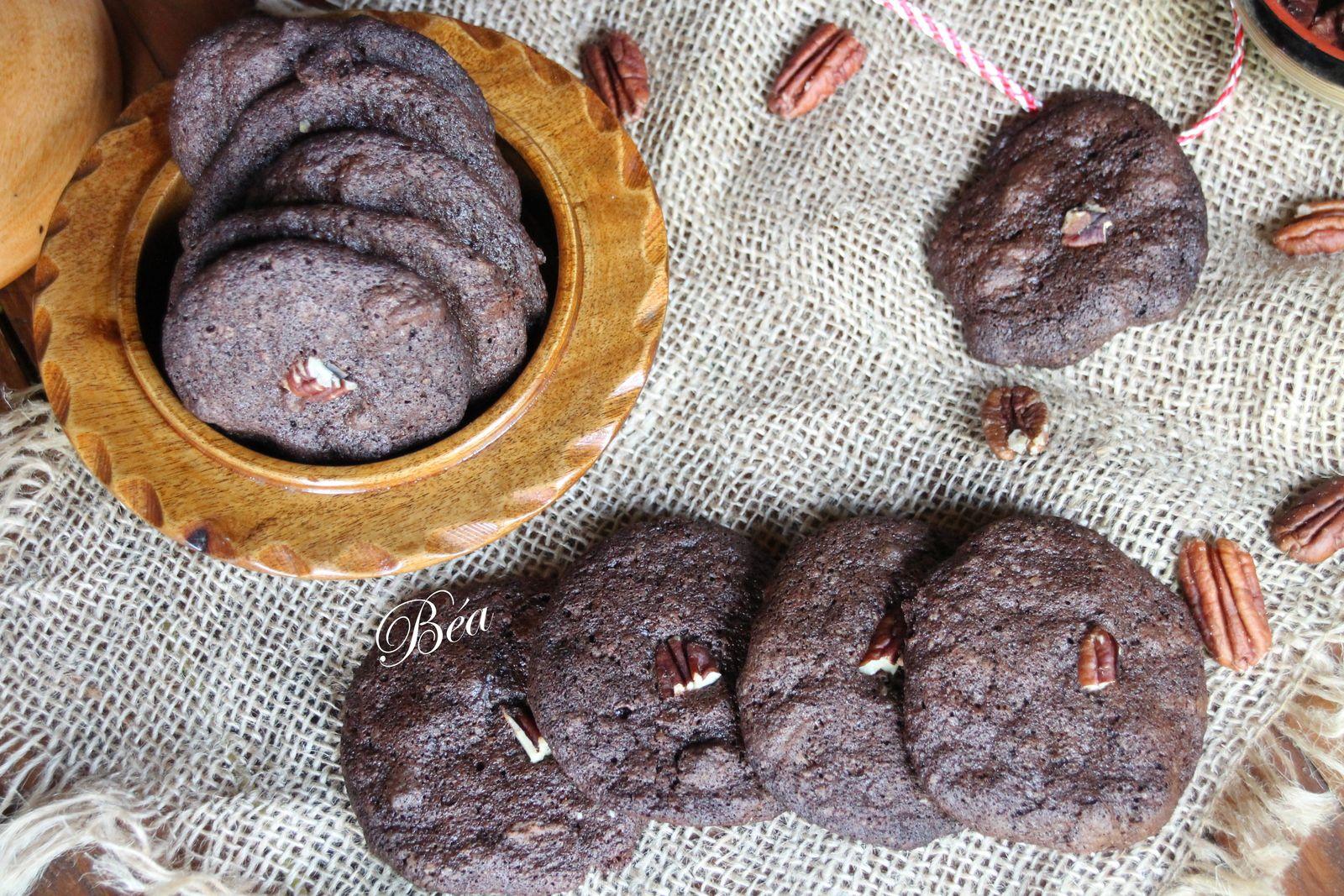 Cookies très chocolatés aux noix de pécan