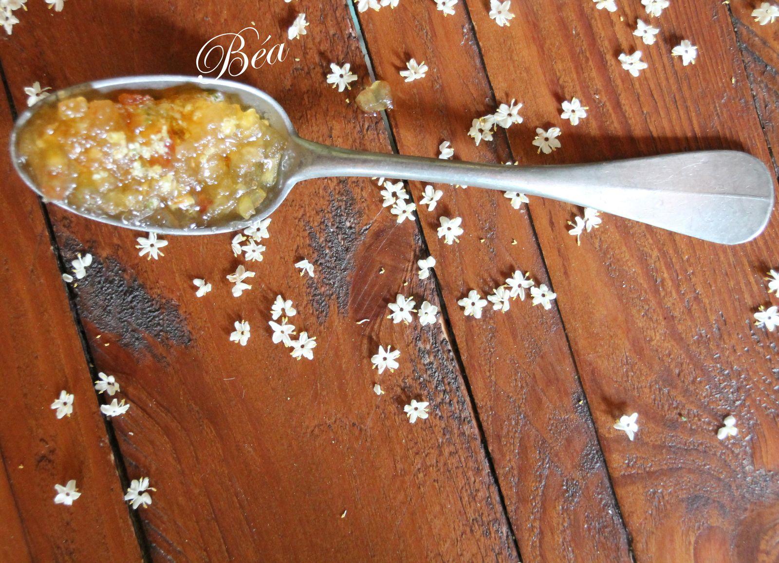 Confiture pommes poires fleurs de sureau