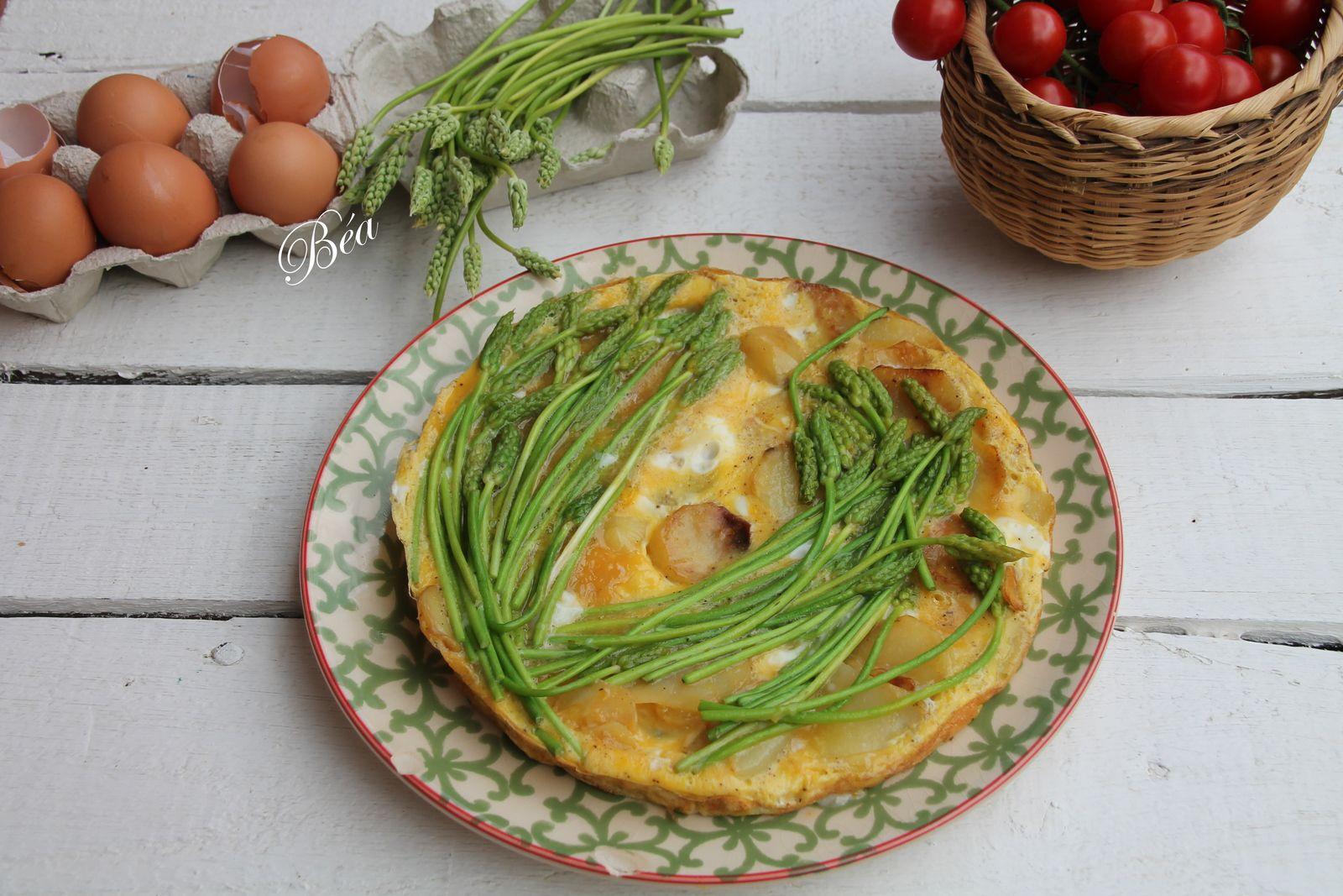 Tortilla aux asperges sauvages