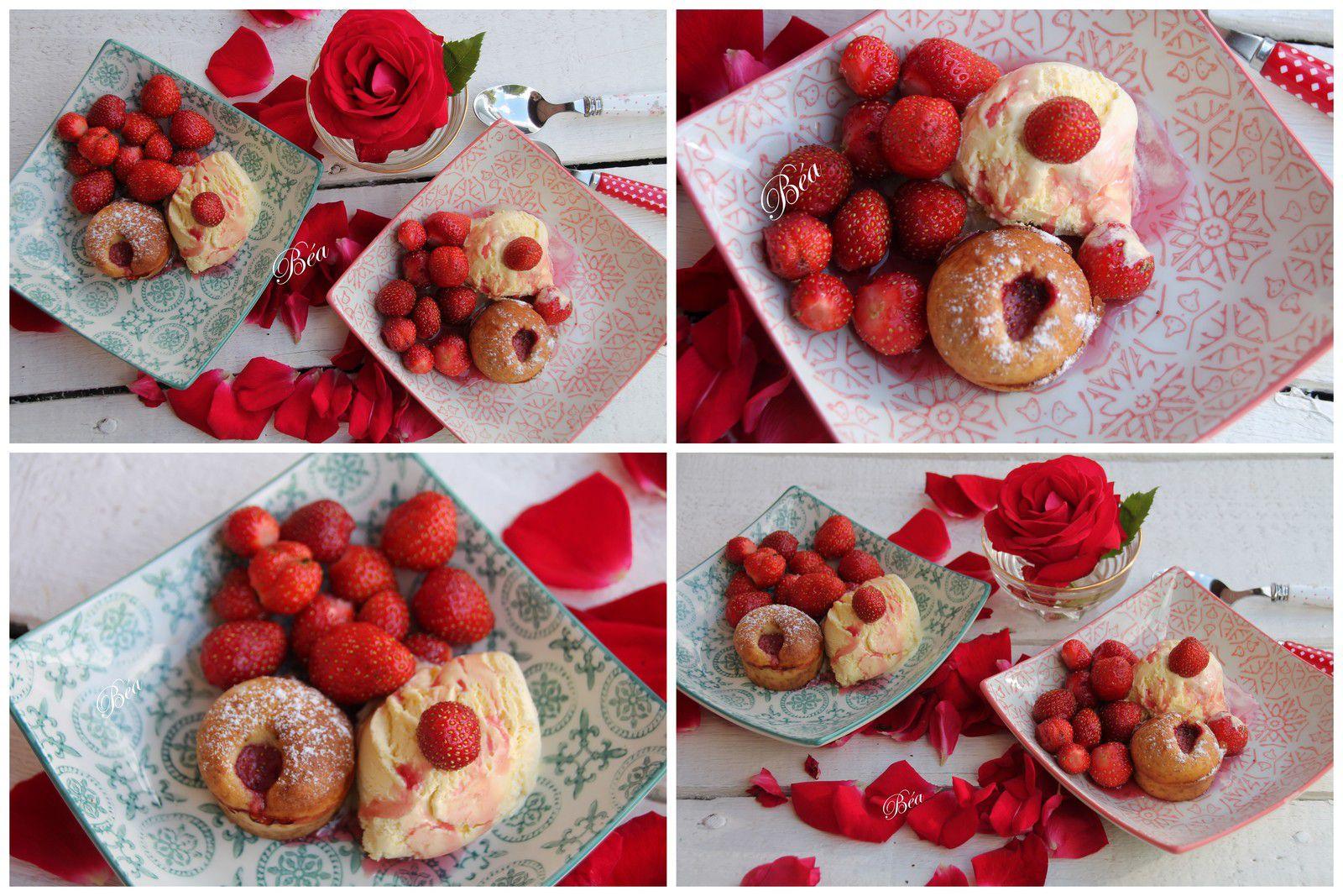 Mini muffins aux fraises et à la liqueur de fleurs de sureau