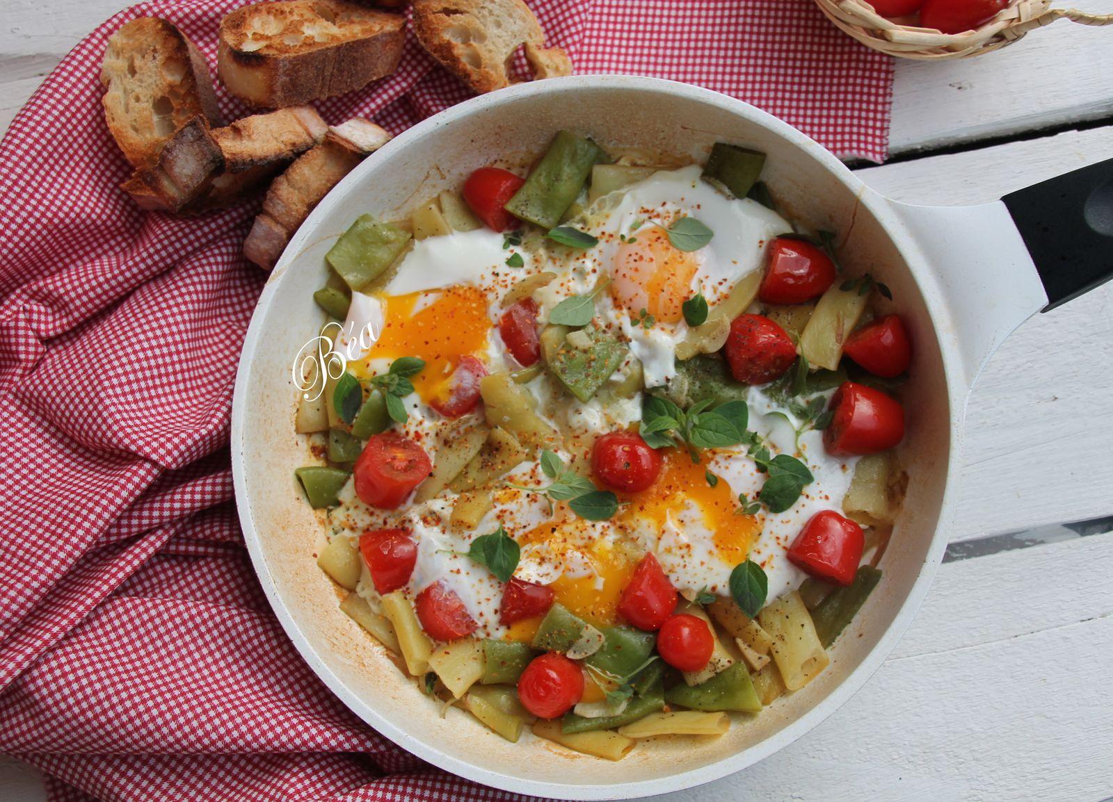 Chakchouka aux haricots plats