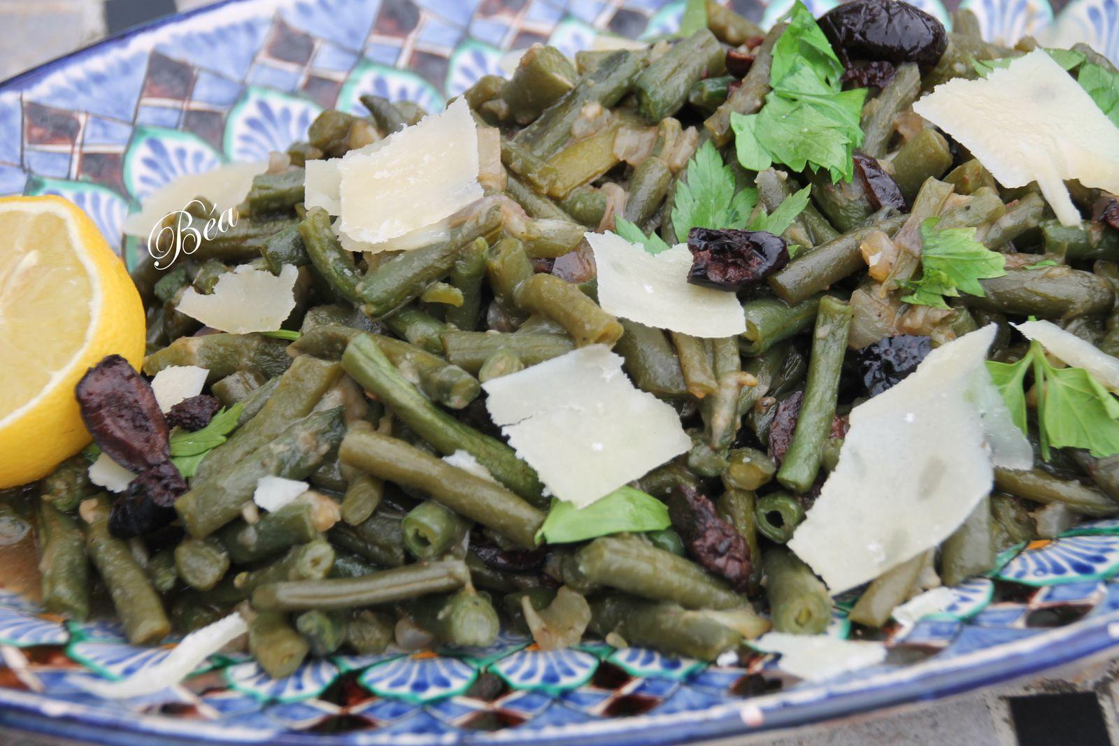 Haricots verts confits selon Akrama Benallal
