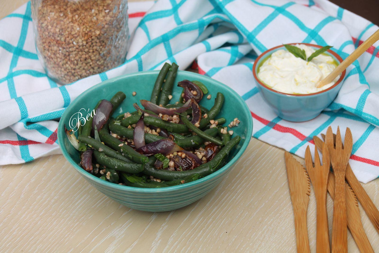 Salade de haricots verts au sarrasin (Ottolenghi)