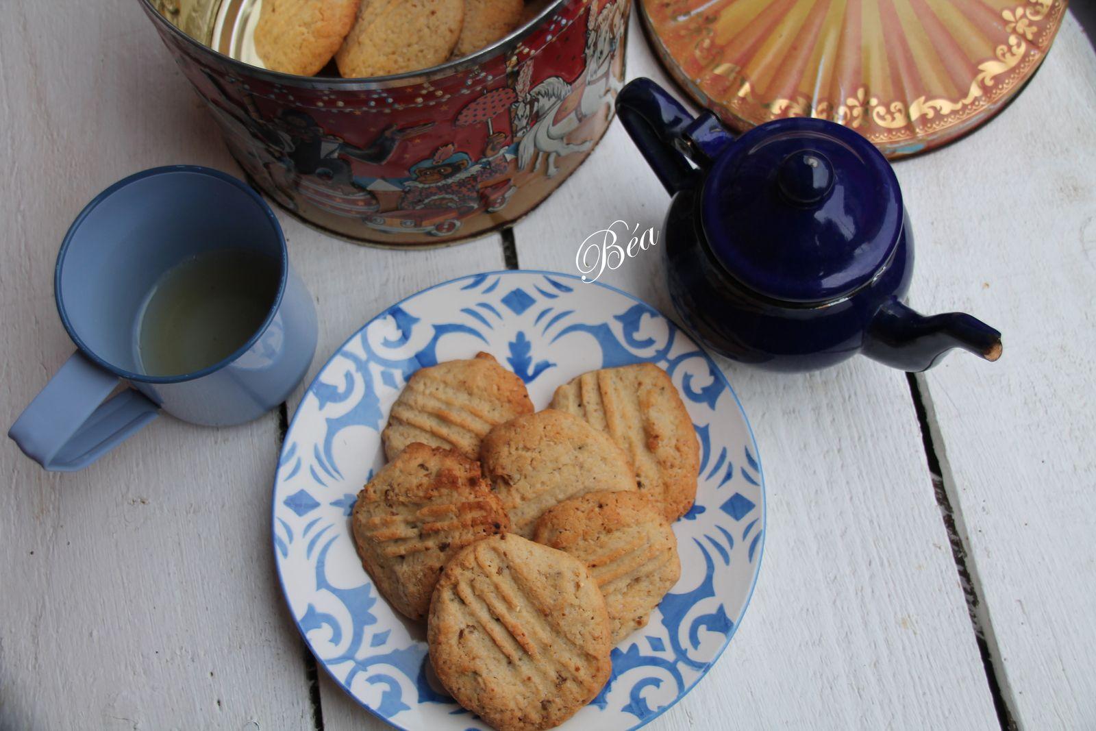 Biscuits à la châtaigne, figues et noisettes