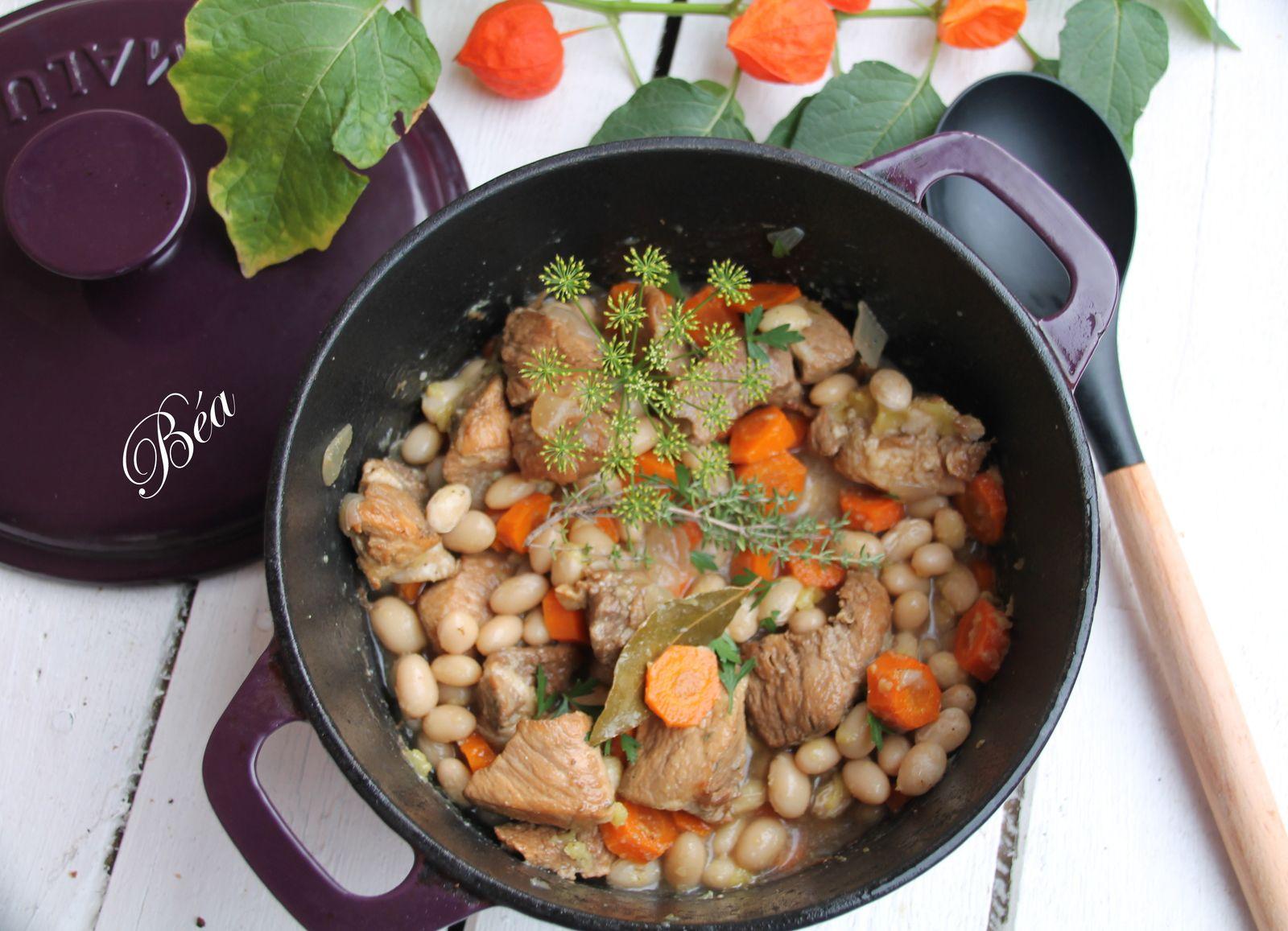 Mijoté de porc au cidre et aux cocos de Paimpol