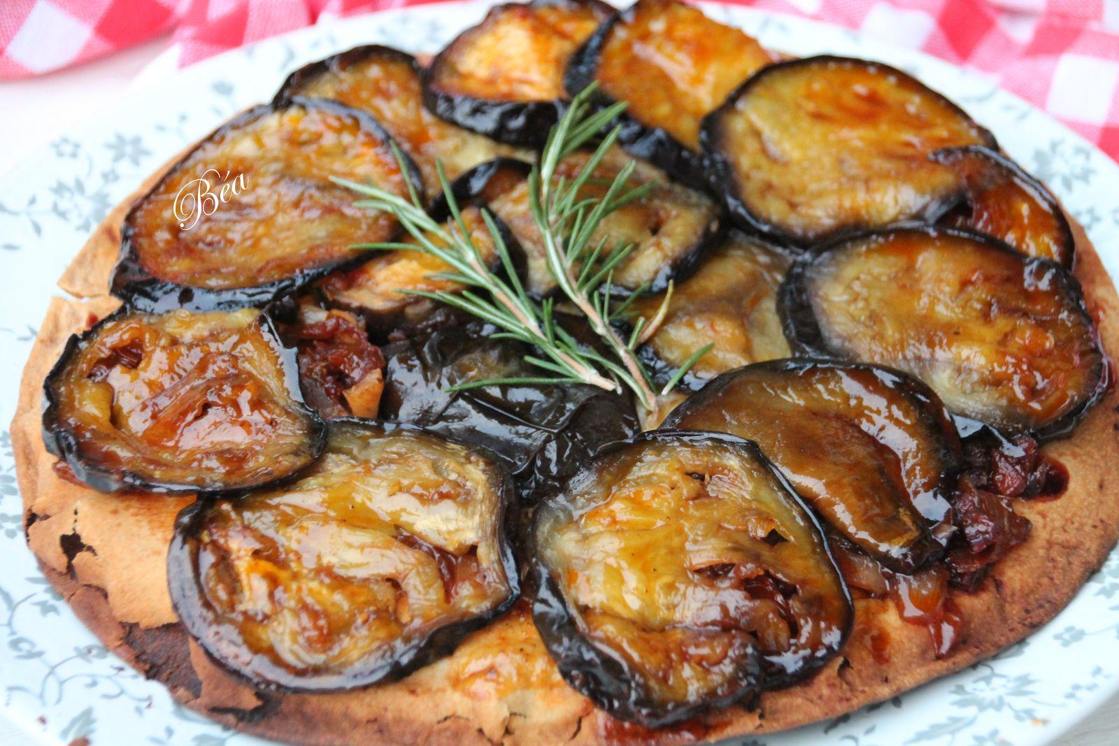 Piadina renversée aux aubergines