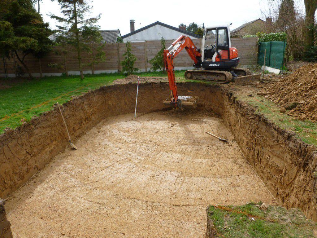 Construction D Une Piscine préparation du terrain pour le terrassement de la piscine