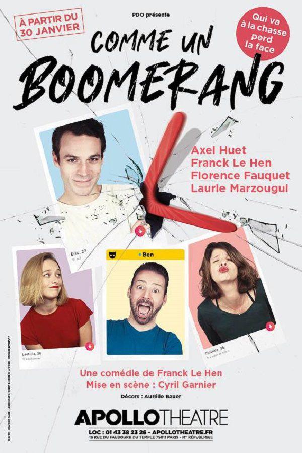 Retrouvailles avec Franck Le Hen pour sa nouvelle pièce intitulée « Comme Un Boomerang » !
