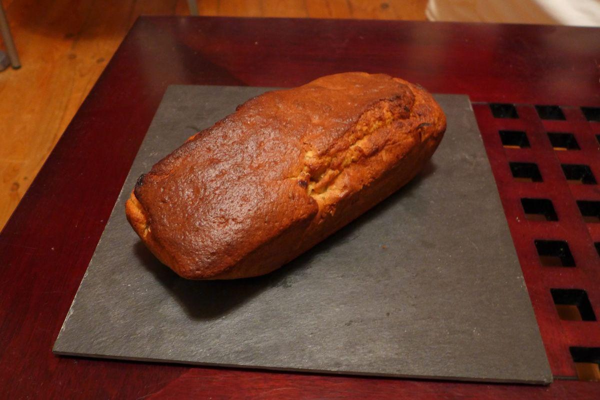 Le gâteau à la banane.