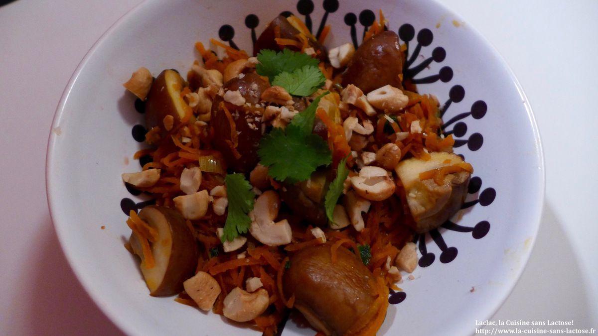 Repas d'un soir #19: Carottes sautées au soja, coriandre et champignons!