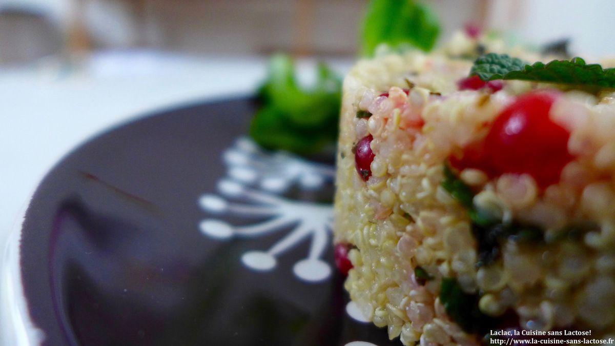 Salade de Quinoa, Menthe et Groseilles!