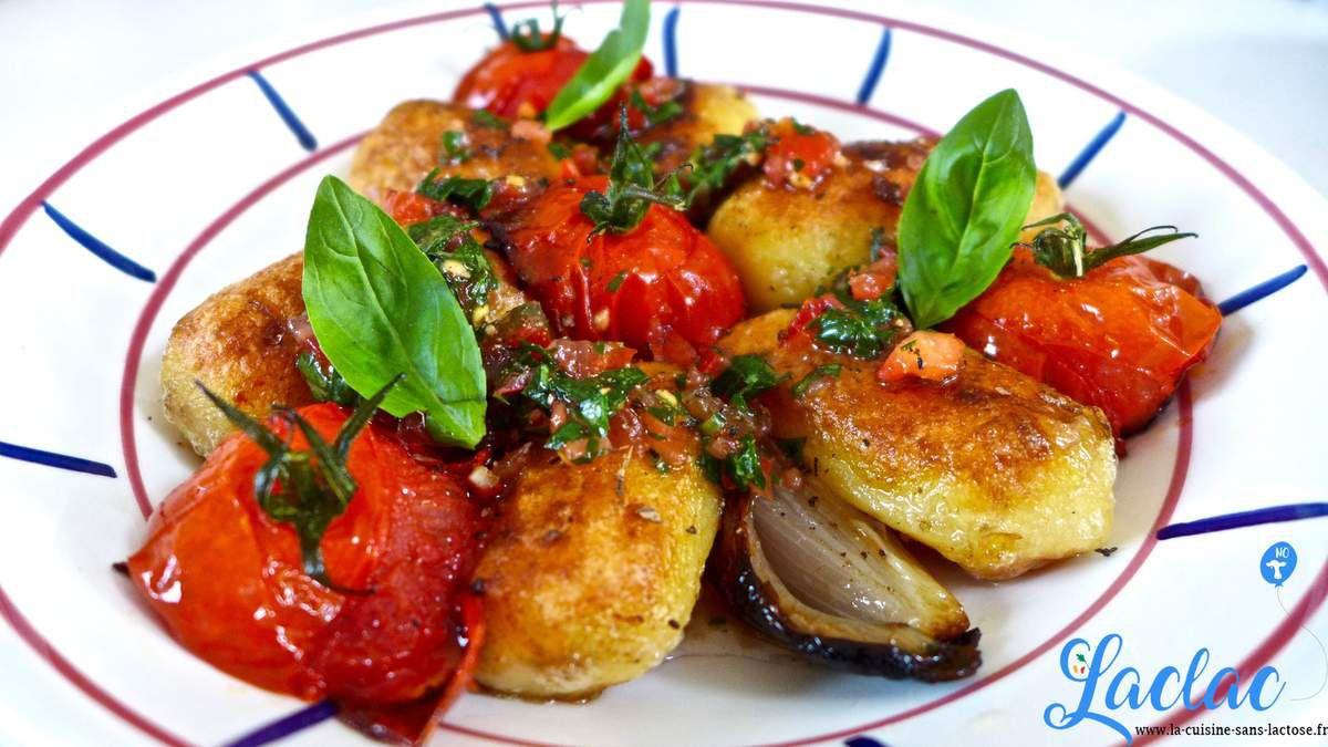 Repas d'un soir #38 : Pommes de terre rôties, Tomates et Basilic!