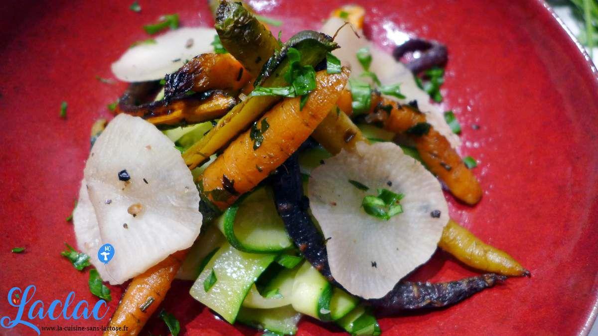 Repas d'un soir #40 : Tagliatelles de Courgettes, Carottes Tricolores, Navet en Pickles!