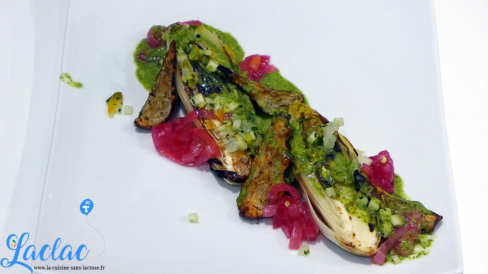 Endives Grillées, Condiment de Haddock, Pickles d'Oignon Rouge ! (JLCTC20 #5)