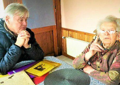 Denis Seznec et Gabrielle Dauphin, 103 ans.