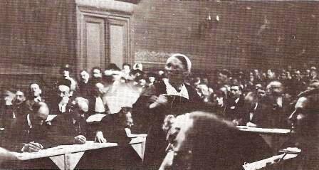Angèle Labigou au procès.